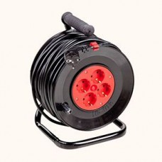 Portable power cord reel U16-01-01 with cable heat shield and ground loop PVS 3x1 (25 m and 40 m)