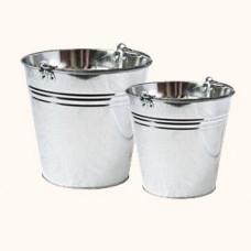 Galvanized buckets (5 L, 7 L, 10 L, 12 L and 15 L)